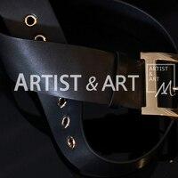 Svoryxiu Runway Custom Made Black Cowskin Belts Women's Copper Buckle Vintage Female Dress Accessories Belts Lady