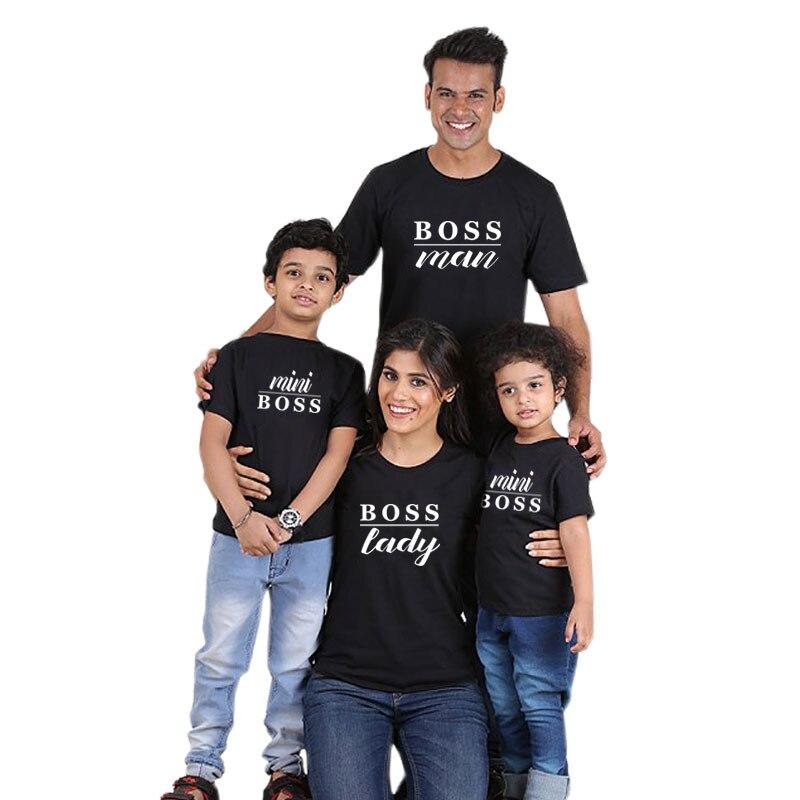 Mère fille fils robes mode T-Shirts roi reine Prince princesse famille Look 2019 papa maman enfant correspondant tenues père