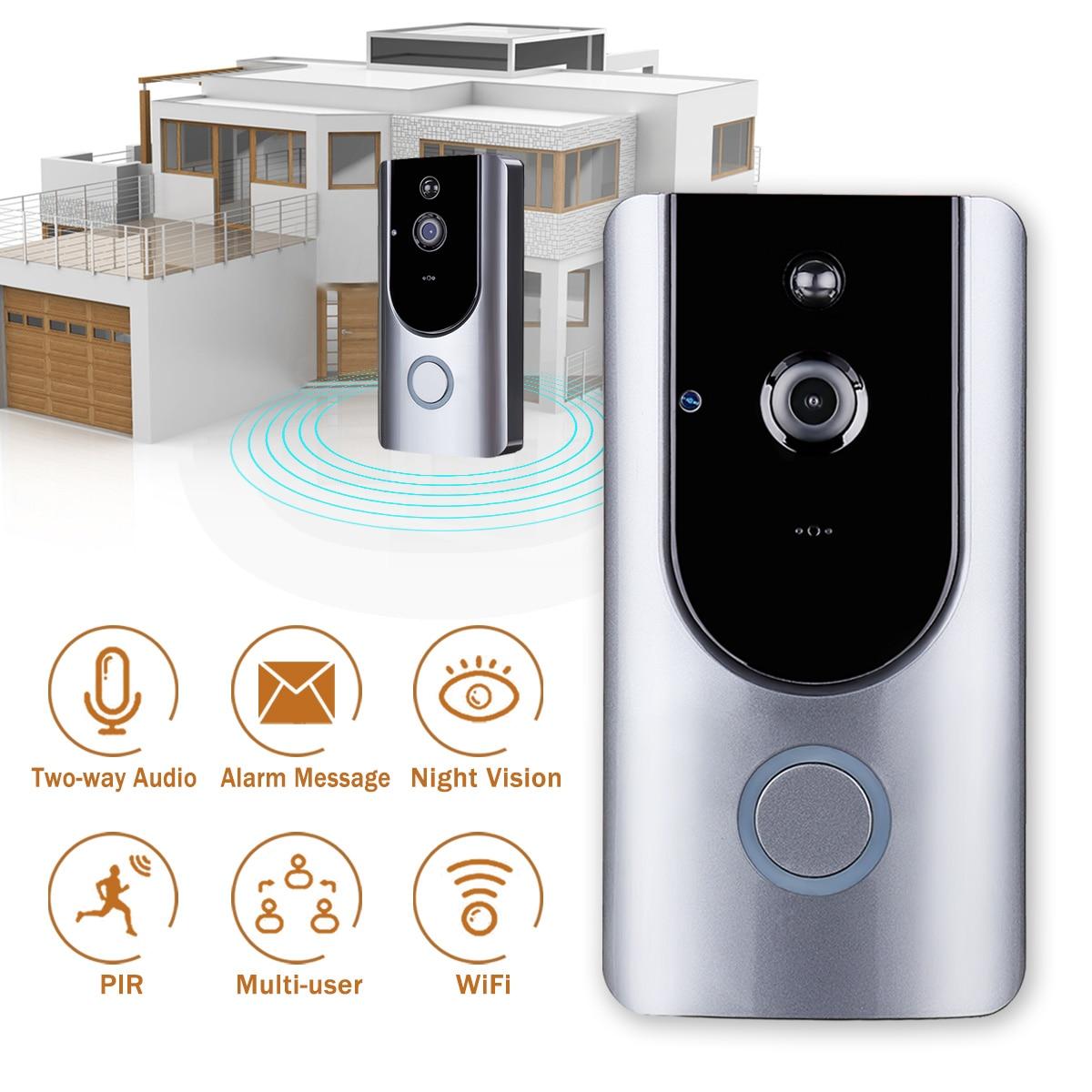 1Set Wireless Video Door Phone HD PIR WIFI Doorbell Intercom Alarm Wireless Security Camera Outdoor Doorbell силиконовые чехлы китики паттерн page 6 page 3