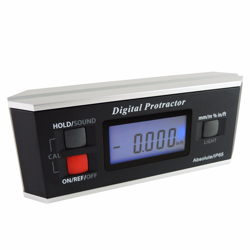 Angle Finder Level Digital Protractor Inclinometer Magnetic V Groove 0 360 degree with Backlight Industrial Automotive