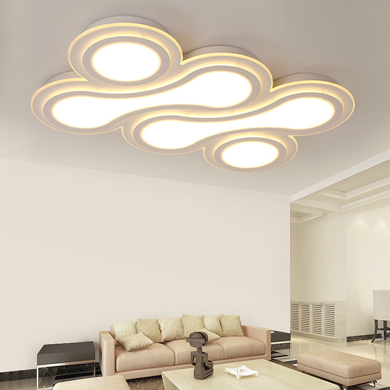Modern ceiling LED ceiling lights hall living room study hall lamp rectangular air room creative personality ceiling lamp ZA