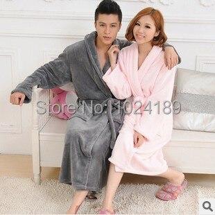 Горячей продажи 2014 новых прибыть как халат женщины теплая зима бренда дамы халат женский длинные ночные рубашки любители сгущает bathrobe2014 S3
