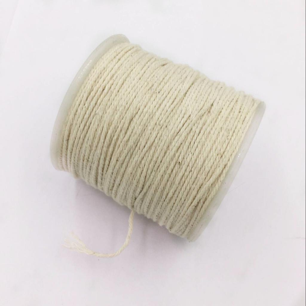 100 Meters 1mm Natural Cotton Twisted Cord Rope Craft Macrame Artisan String