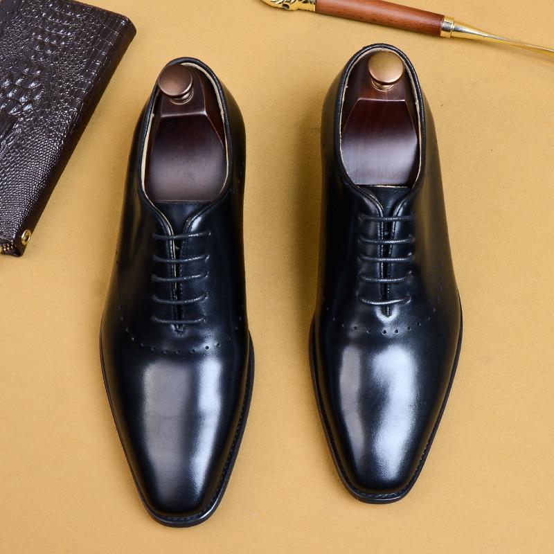 Couro Formais Laços Phenkang Homens coffee Negócios Para Black Mens Sapatos Vestido Genuíno Brogues Preto 2019 Oxford De Casamento UqZ5IwZ
