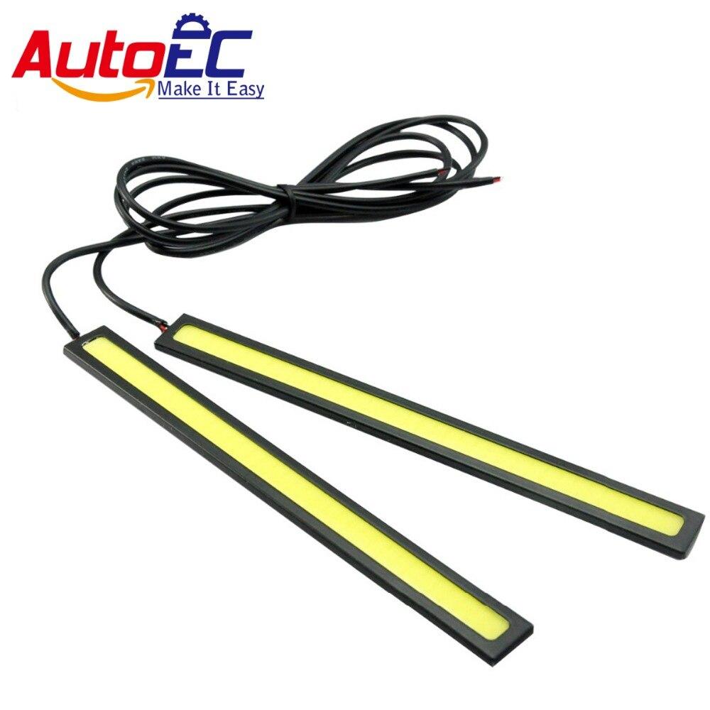 AutoEC 17см серебро оболочки дневного света Водонепроницаемый удара дневное время света автомобиля СИД DRL вождение Лампа 2шт/лот LM51