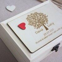Personalized Wedding Guest Book,Wooden Hearts Sign Guestbook Alternatives,Custom Drop Top Guestbook,Rustic Wedding Keepsake Box