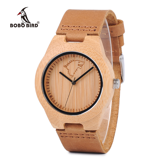BOBO BIRD Hot Sale Women Bamboo High Quality Watches Engraved Wolf Deer Bamboo D