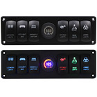 Waterproof 6 Gang Switches Panel Led IP65 for Offroad Boat Car Truck 12V 24V ATV SUV