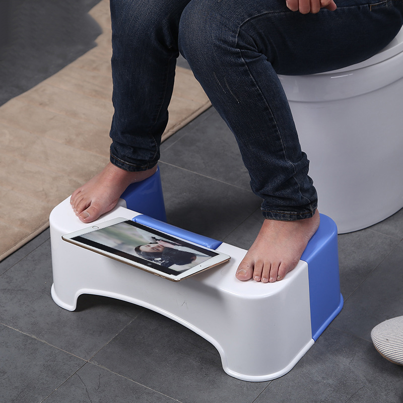 2017no slip toilet foot stool potty stool squat Crouch hole folding toilet stool squat potty stool phone holder design
