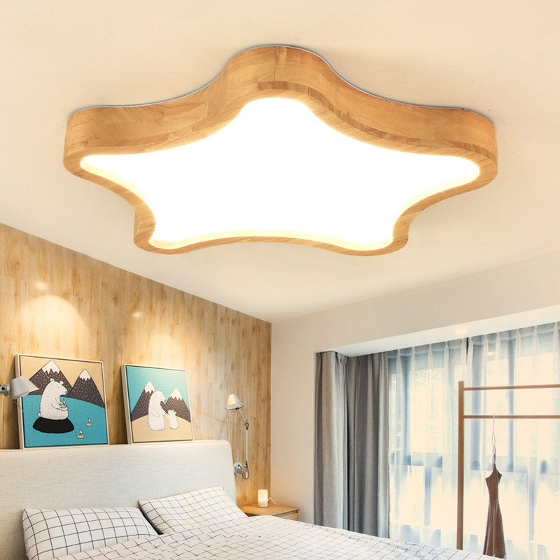 Modern brief acrylic fine star bedroom thin ceiling light fixture home deco norbic creative dining room wood LED ceiling lamp modern japanese tatami wood octagon led ceiling lamp bried chinese home deco living room acrylic yurts ceiling light fixture