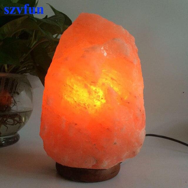Himalayan Salt Lamp Natural Crystal Rock Night Light Healthy Table Lampara  Lminaria De Mesa With EU