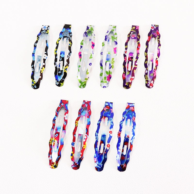 HTB1DqmGOpXXXXXxaVXXq6xXFXXXa Delightful Flower Geometric Print Hair Clip Set For Women - 7 Sets
