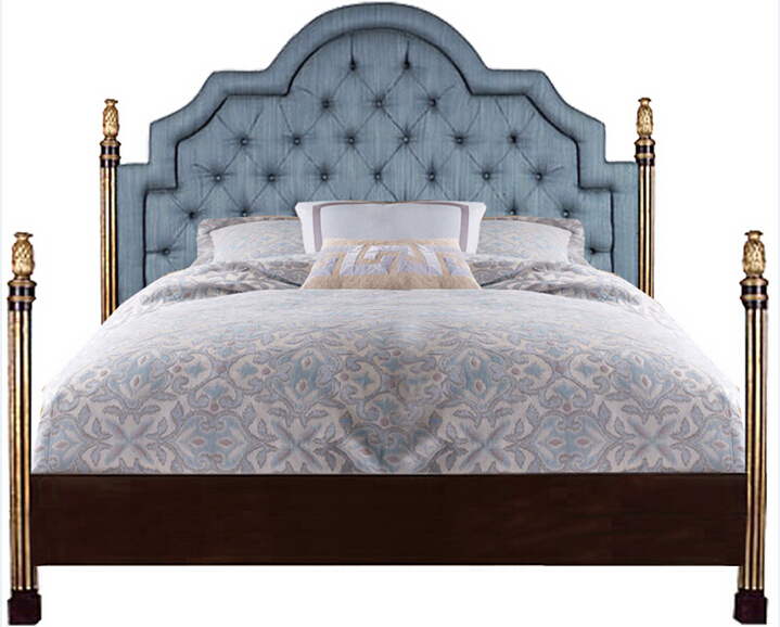 New classic bed europe style bed american type luxury for Latest bed styles