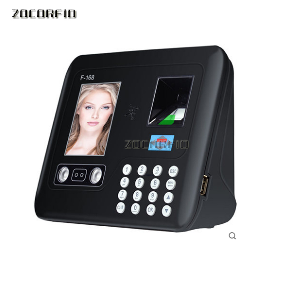 Biometric Fingerprint&face Time Attendance Clock Recorder Employee Digital Electronic English Menu /U-disk Download