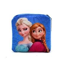 New 2016 Kawaii Cartoon Elsa The First Children Plush Coin Purse Zip Change Purse Wallet Kids Girl Women For Gift