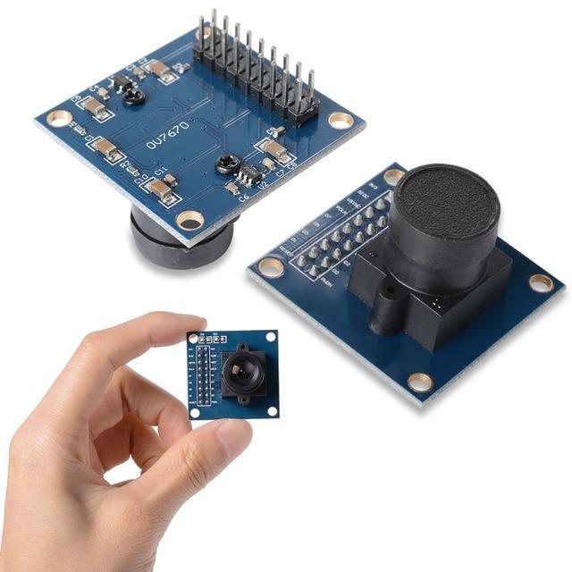 Le Module de caméra OV7670 prend en charge laffichage de contrôle dexposition automatique VGA CIF OV7670 STM32 taille Active 640X480 pour Arduino bricolage électronique
