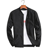 Big Size 4XL 5XL Mens Spring Summer Jackets Casual Thin Male Windbreakers College Bomber Black Windcheater