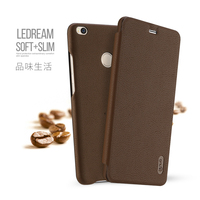 Lenuo Leather Case For Xiaomi Mi Max 2 Flip Soft Case Ultra Thin Phone Bag Back