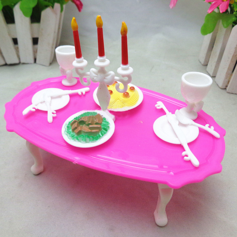 13 Pcs/set Candlelight Dinner for Barbies Tableware Candle ...