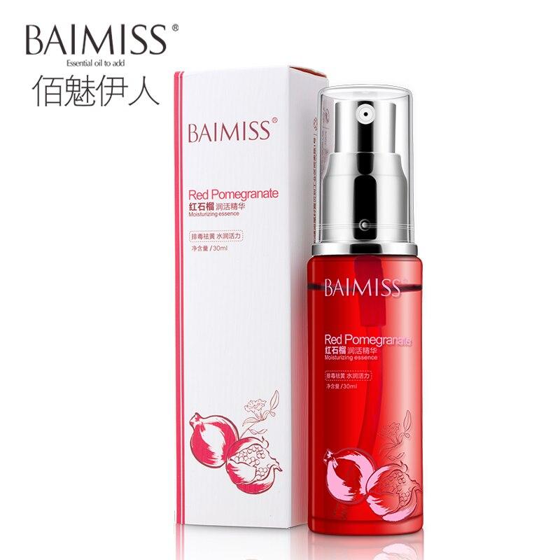 BAIMISS Red Pomegranate Essence Face Serum Refreshing Moisturizing Anti Aging Wrinkle Shrinkage Pore Hydration Improve Skin Care