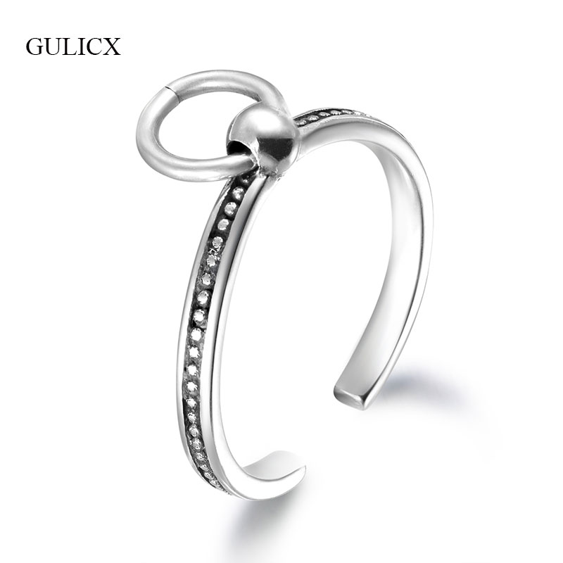 f16200e53e33 Cheap GULICX 100% 925 anillos de plata esterlina mujeres anillos de boda  estilo coreano femenino
