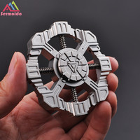 sermoido Star Trek High Quality EDC Stress Wheel Toy Titanium Hand Spinner Metal Rainbow Fidget Spinner A180