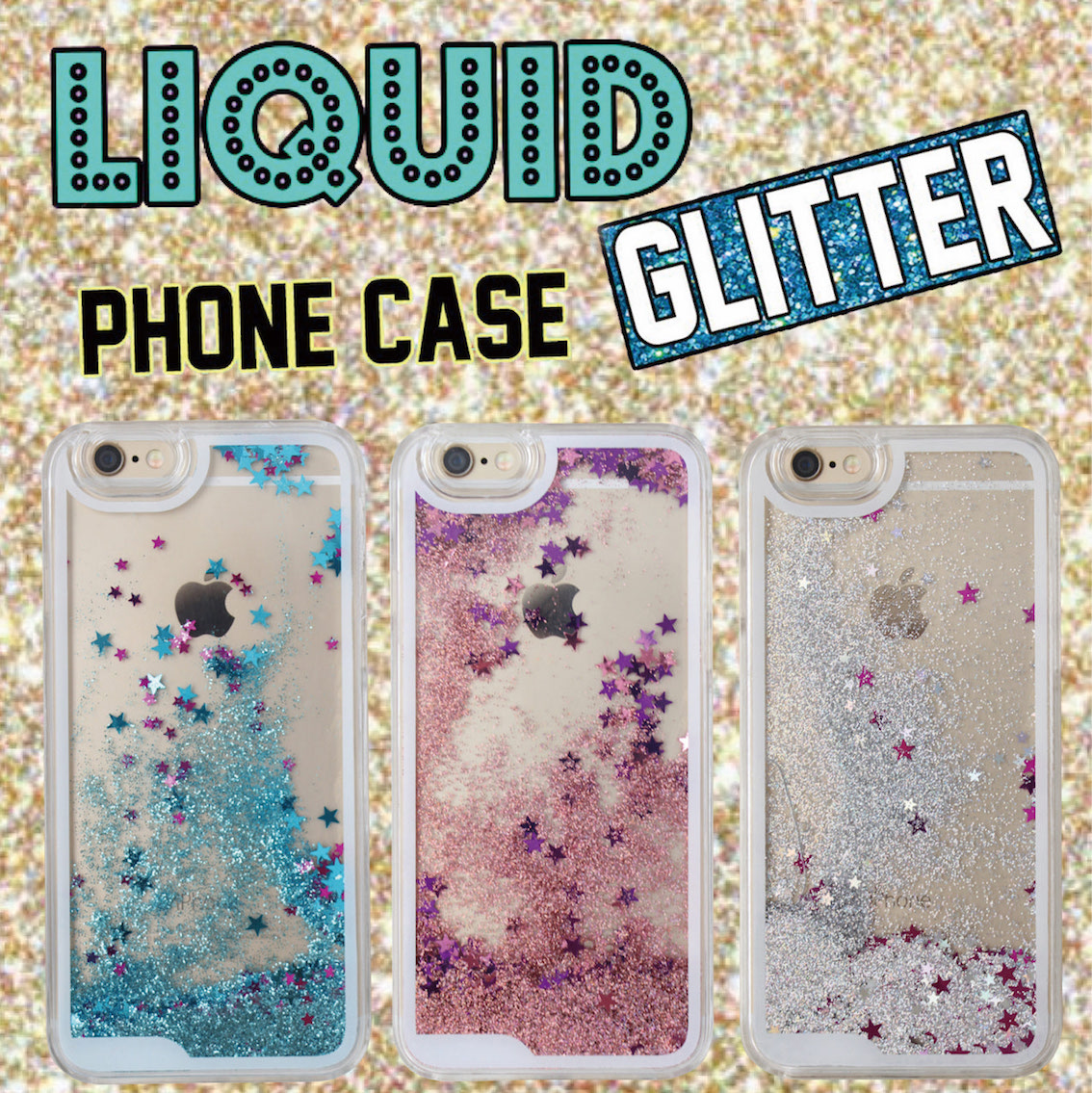 Fashion Glitter Sparkle Liquid Quicksand Star Heart Pink Hard Phone Case Cover Coque Fundas For iPhone 6 6S 6Plus 5 5S 7 7Plus