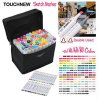 30/36/40/48/60/72/80 Animatie Kleuren Touchnew Marker Pen Markering Pennen verf Marker Hoogtepunt Pen Kleurrijke Schilderen Highlighting
