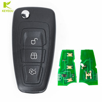 KEYECU Aftermarket 3 Button 434MHz ID83 Remote Car Key Fob For Ford C Max Focus Grand