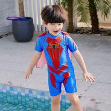 Halloween Cosplay costume for kids bat man swimwear super hero one-piece swimsuit boys hot spring fancy swim sport beach wear