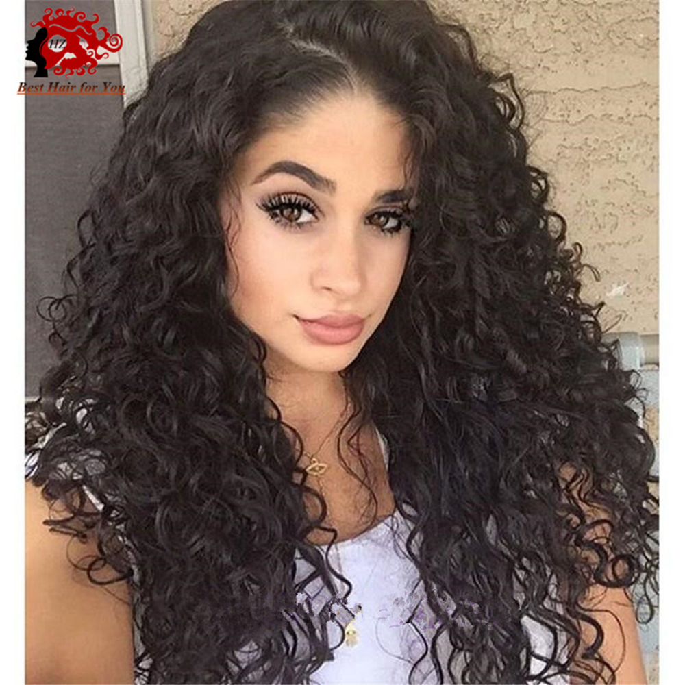 Best Natural Looking Lace Front Wig 150 Density Virgin Peruvian