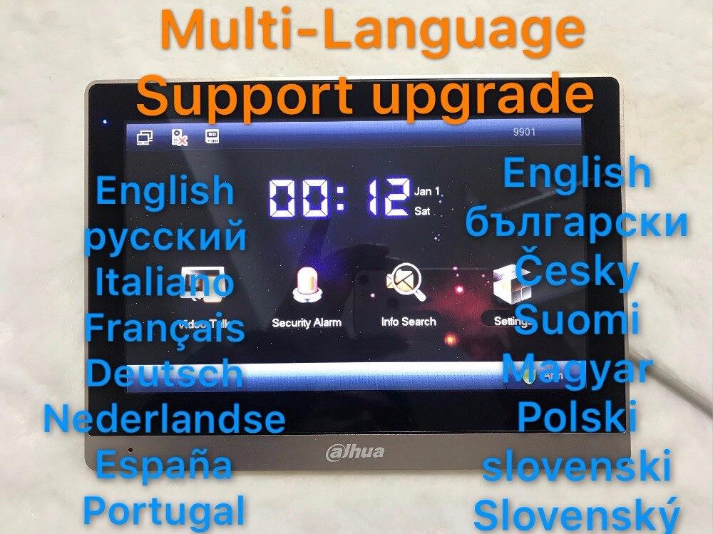 Dahua Multi-langue pouces interphone vidéo écran tactile Moniteur Couleur Intérieure VTH1660CH