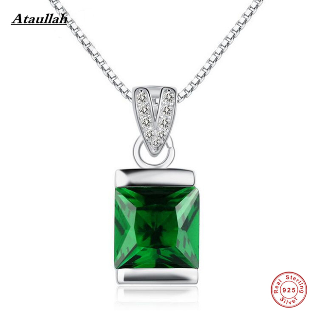 Ataullah luxury 6ct created green luxury emerald pendants 925 ataullah luxury 6ct created green luxury emerald pendants 925 sterling silver pendant necklaces fine jewelry with aloadofball Choice Image
