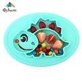 Qshare Детские тарелки силиконовые детские чаши тарелка посуда дети контейнер для еды лоток детский пищевой контейнер тарелка для кормления р...