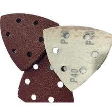 Шлифовальный лист 50 шт./пакет 90 мм, смешанный оксид алюминия, Зернистость 40, 60, 80, 120, зернистость 180, набор для шлифовки бумаги