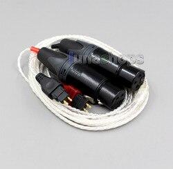 3pin XLR Female PCOCC + Silver Plated Cable for Sennheiser HD525 HD545 HD565 HD650 HD600 HD580 LN004740