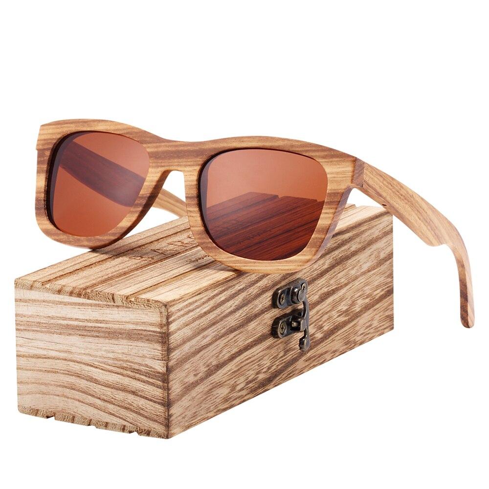 BARCUR Brand Designer Zebra Wood Sun glasses For Men Vintage Polarized Women Sunglasses Lady Glasses lunette
