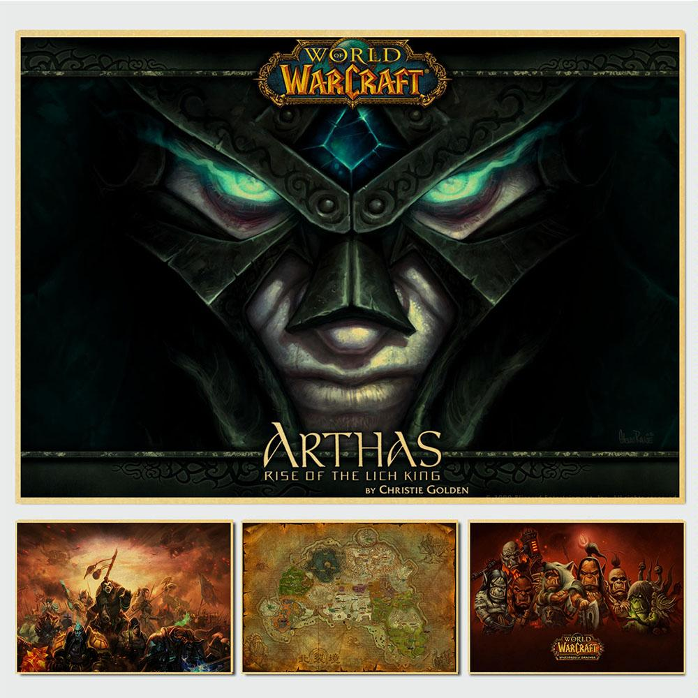 World Of Warcraft WOW Retro Poster Vintage Poster Wall Decor For Home Bar Cafe Kraft Paper Personalised Room Decoration