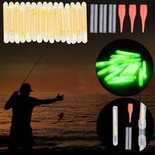 15pcs Mini 4.5x36mm Glow Fishing Fish Fluorescent Lightstick Light Night Float Rod Lights Dark Sticks ASD88