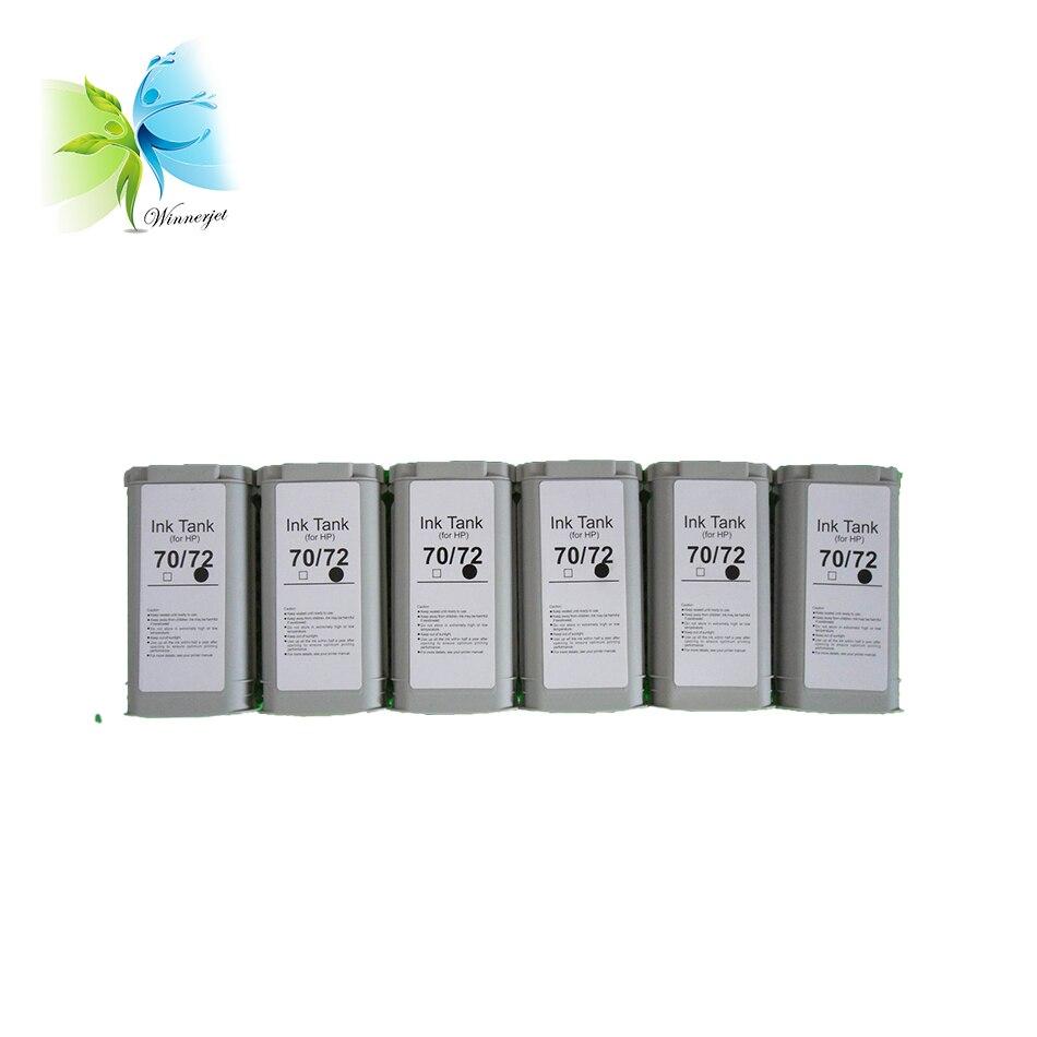 Winnerjet 6 colori per HP 72 cartucce di inchiostro del pigmento e della tintura di cartirdge inchiostro per HP Designjet T1100 T1200 T2300 T1120 t770 T790 T795