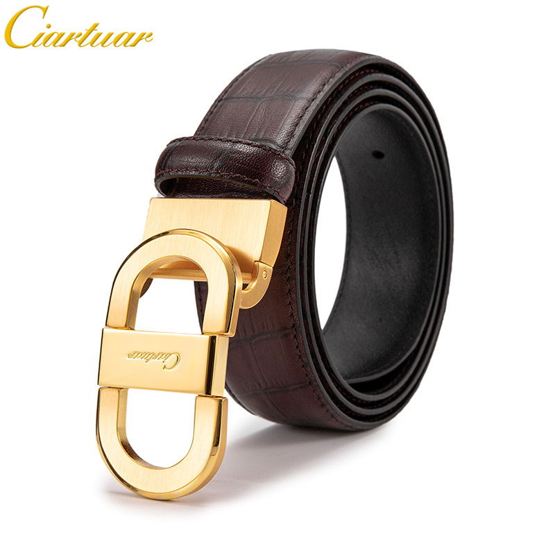 Ciartuar High Quality Brand Business Casual Style Men s Genuine Leather Belt Male Designer Luxury Solid