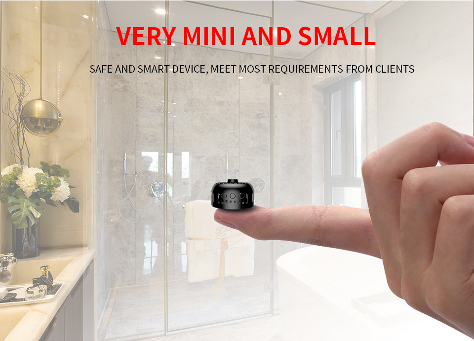 Camera Very Small Easy to Hide Camera Double Password Protection Mini Wifi Camcorder