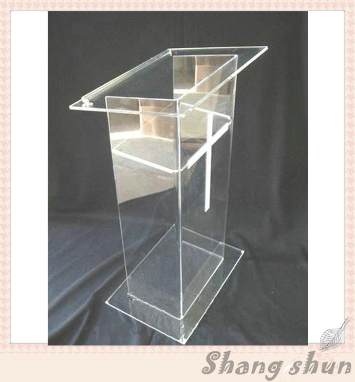 Clear Acrylic Church Pulpit Podiums /Rostrum/PMMA Pulpit Acrylic Aeception Display clear acrylic a3a4a5a6 sign display paper card label advertising holders horizontal t stands by magnet sucked on desktop 2pcs