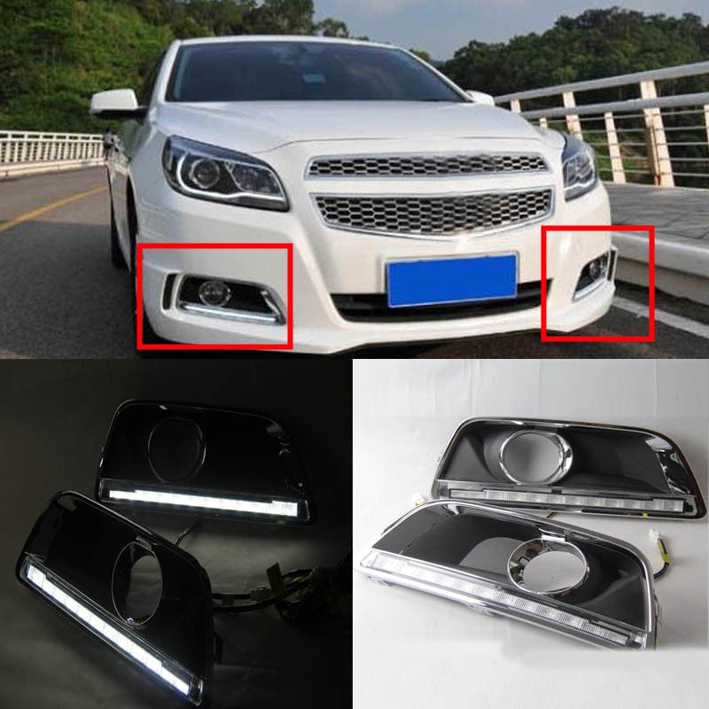 Chevrolet Malibu 2014 For Sale: Aliexpress.com : Buy 2pcs White Daytime Day Fog Lights DRL
