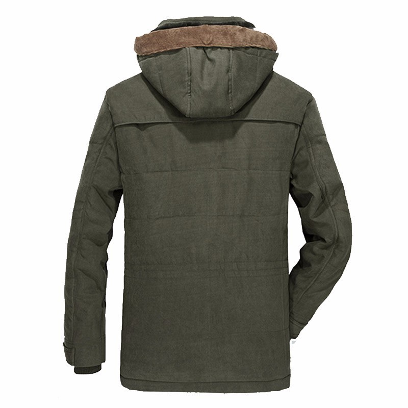 Erkek Kıyafeti'ten Parkalar'de KOSMO MASA Yeşil Kalın Uzun Ceket Erkekler Parka Mont 2018 kışlık ceketler Erkek Pamuklu Kapşonlu Rahat Sıcak Aşağı Parkas 6XL MP032'da  Grup 2