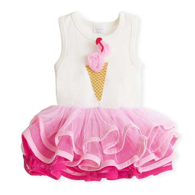 Bodysuits do bebê da menina de verão, infantil rosa sem mangas bodysuits como um vestido tutu, 6 pçs/lote frete grátis