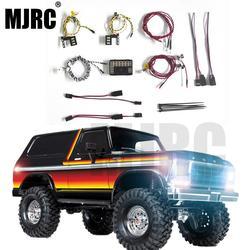 MJRC nowy produkt system oświetlenia LED przednia i tylna lampa grupa dla 1/10 RC Car Traxxas TRX4 Bronco przednie i tylne reflektory w Części i akcesoria od Zabawki i hobby na
