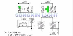 Image 2 - 3000 pçs/lote super brilhante 1206 iluminação verde smd diodo led 3216 diodos verde puro 520 530nm 100 120mcd xiasongxin luz esmeralda
