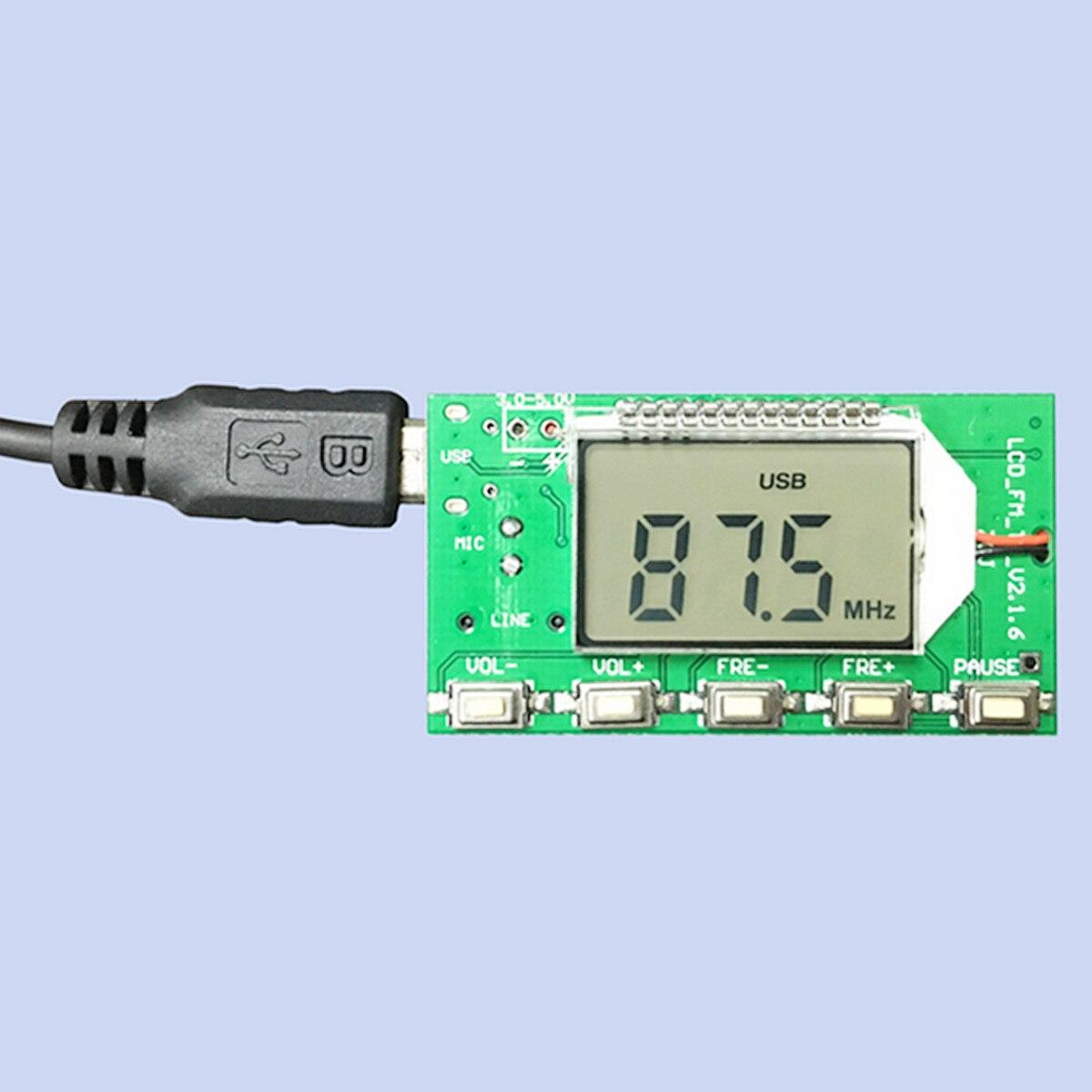 Nouvelle Arrivée Haute Qualité DSP PLL 87-108 mhz Numérique Sans Fil Microphone Stéréo FM Module Émetteur Conseil Acoustique Composants