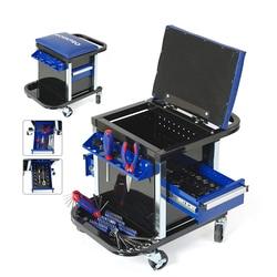 WORKPRO 135PC Tool Set Movable Workbench Seat car repair tool stool set